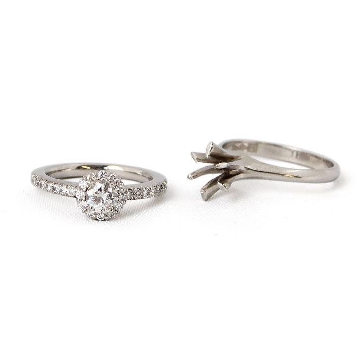 立て爪ダイヤモンドリングのリフォーム