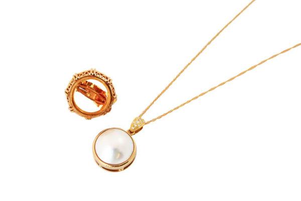 マベ真珠のネックレス