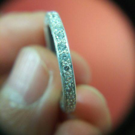 シルバーアクセサリーのアフターダイヤモンド加工